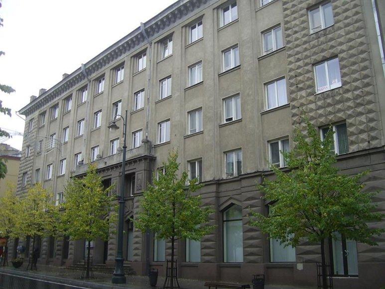 Žemės ūkio ministerija Gedimino pr. Vilniuje (dab. Europos Komitetas prie Lietuvos Respublikos Vyriausybės), architektas V. Afanasjev, 1954 m.