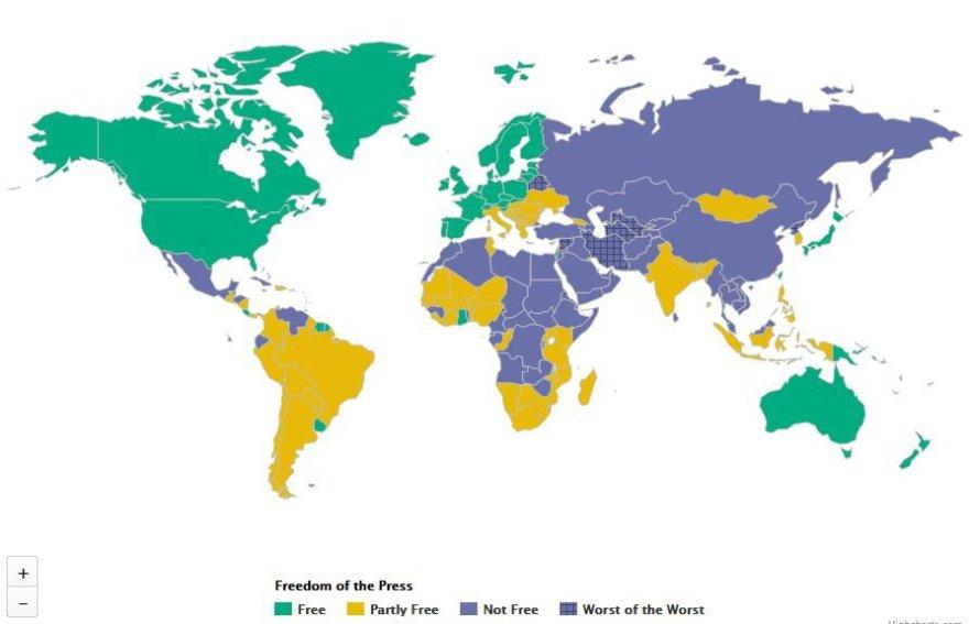 Žiniasklaidos laisvė pasaulyje