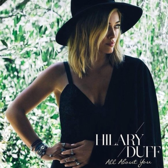 """Hilary Duff singlo """"All About You"""" viršelis"""