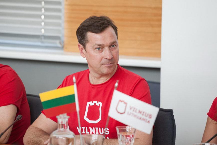 Artūras Zuokas per naujojo Vilniaus prekės ženklo pristatymą