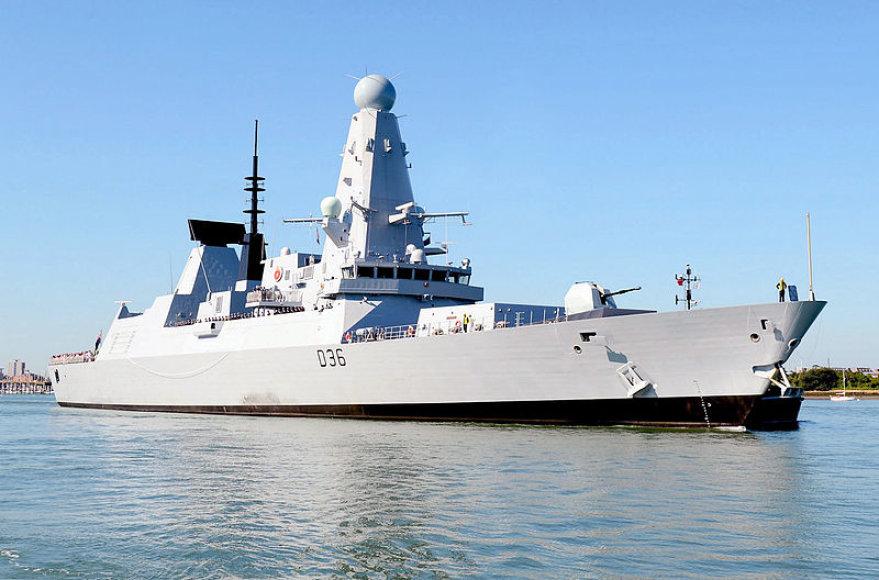 """Britų eskadrinis minininkas """"HMS Defender"""""""