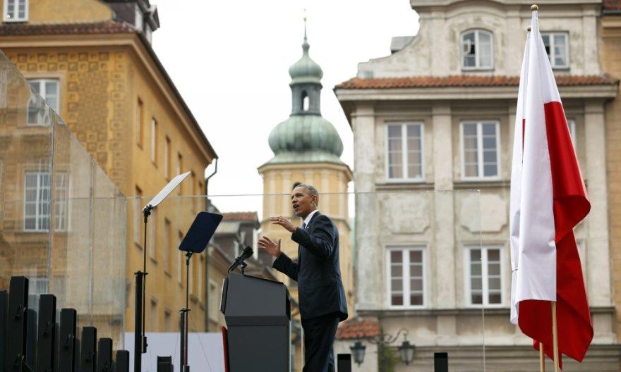 Baracko Obamos kalba Varšuvoje
