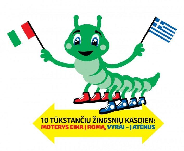 """Akcija """"10 tūkstančių žingsnių kasdien: moterys eina į Romą, vyrai – į Atėnus"""""""
