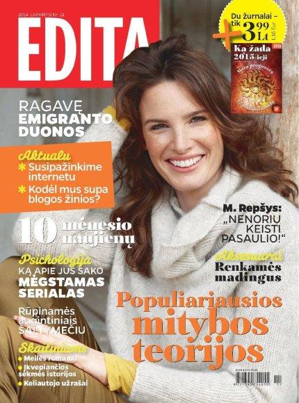 """Žurnalo """"Edita"""" lapkričio mėnesio viršelis"""