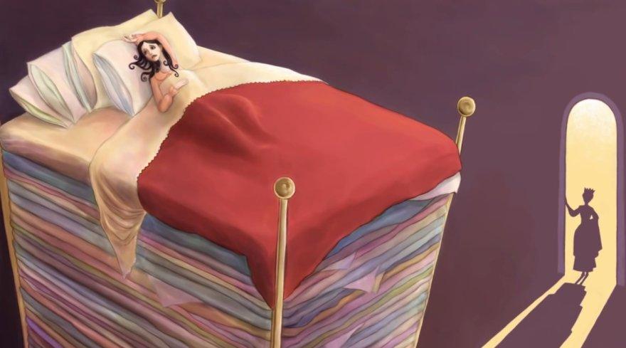Karalaitė ant žirnio