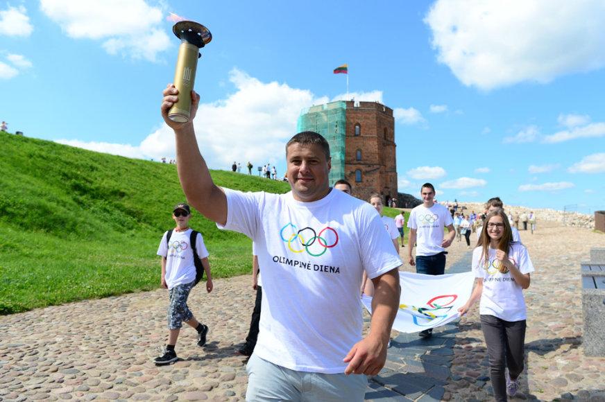 Olimpinė diena Vilniuje – Mindaugas Mizgaitis