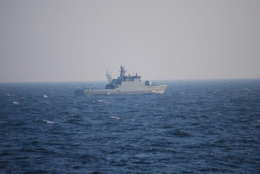 Laivas P14 jūroje