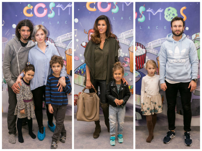 Živilė ir Viktoras Diawara su vaikais, Viktorija Macijauskienė su dukra, Vaidas Baumila su dukterėčia
