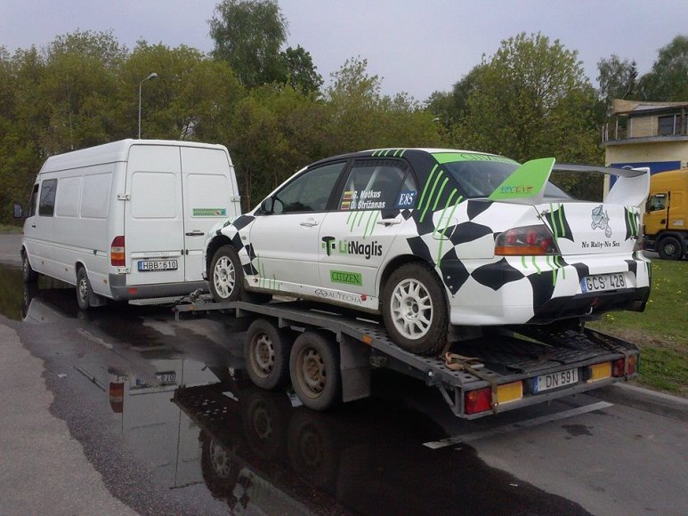 """Giedriaus Notkaus """"Mitsubishi Lancer EVO IX"""" prieš avariją"""