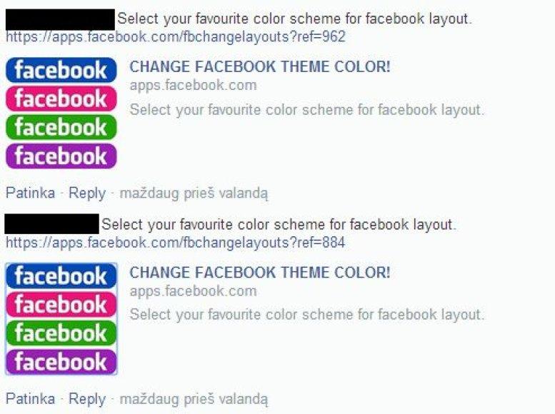 Facebook vartotojai raginami dalintis neteisinga informacija