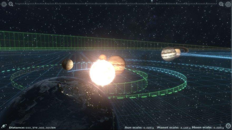 Bedarbio programuotojo Christopherio Albeluhno sukurta programa galima tyrinėti visą Saulės sistemą.