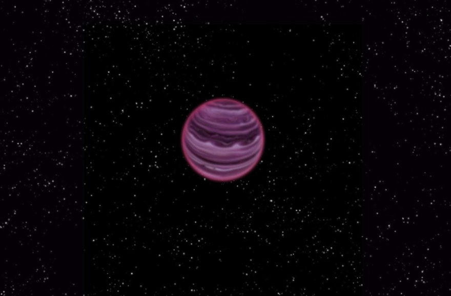 "Dujinė egzoplaneta ""PSO J318.5-22"" menininko akimis"