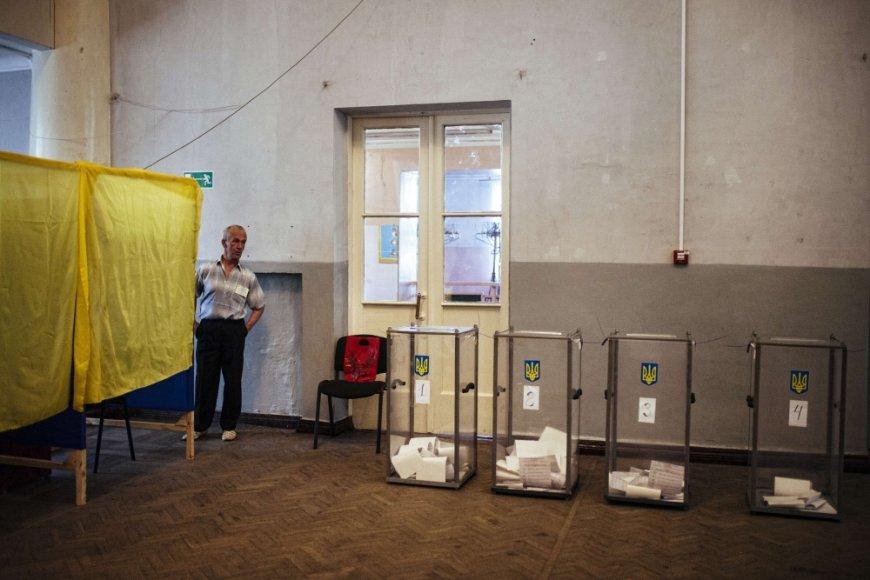 Rinkimų apylinkė Dobropilyje