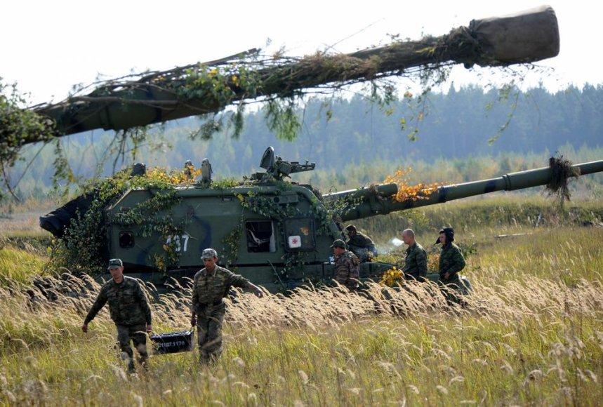 Rusijos kariuomenės pratybos Baltarusijoje
