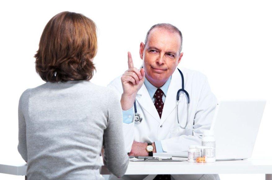 Gydytojas ir pacientė