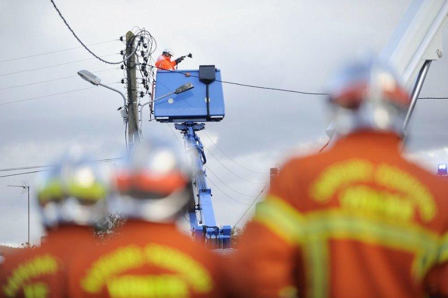 Tvarkomi nutraukti elektros laidai