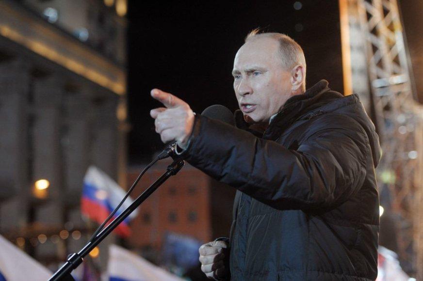 Trečią kartą Rusijos prezidentu išrinkto Vladimiro Putino kalba rinkėjams