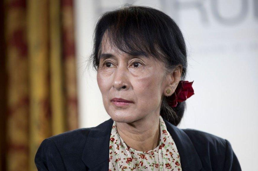 Mianmaro opozicijos lyderė Aung San Suu Kyi