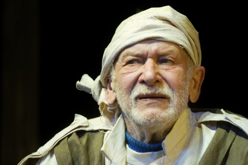 """Eduardas Murašovas paskutiniame savo spektaklyje """"Vėjas tuopų viršūnėse"""" 2012."""