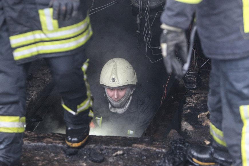 Vilniuje degė garažas