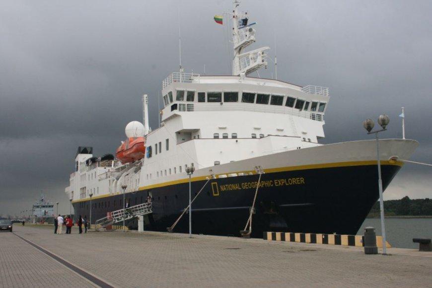 """Laivas """"National Geographic Explorer"""" į Klaipėdą atplukdė 142 keleivius."""