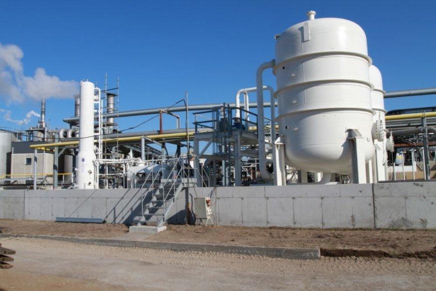 """""""Klaipėdos naftos"""" bendrovėje pastatytas naujas rekuperacijos įrenginys."""