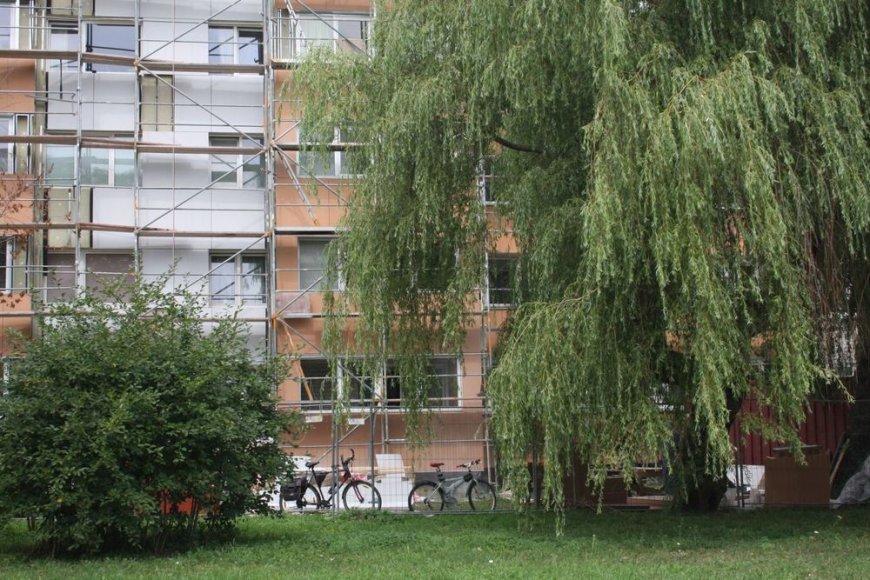 Klaipėdoje šiuo metu baigiama renovuoti daugiabutį Tilžės gatvėje.