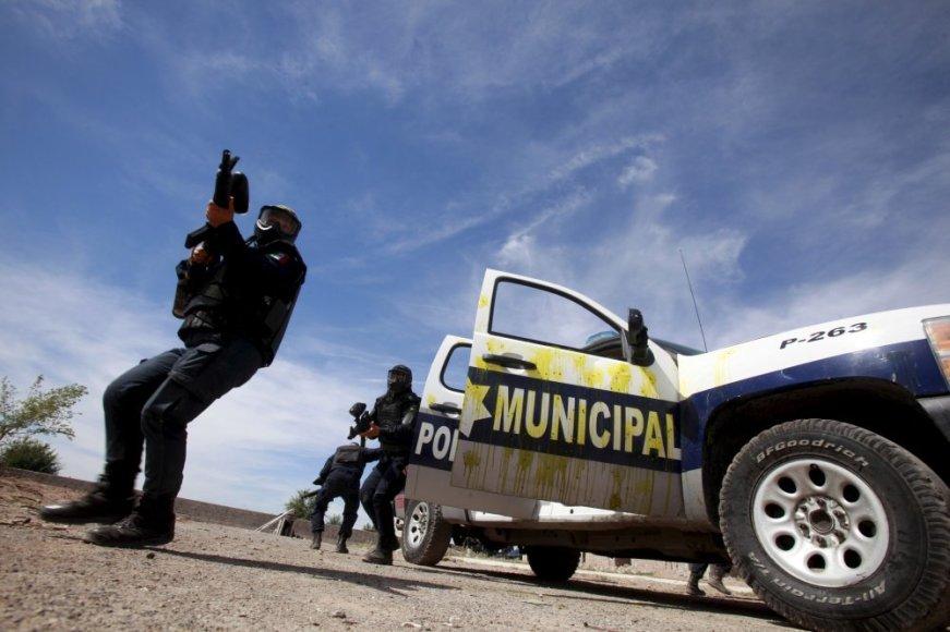 Meksikos policijos pareigūnai