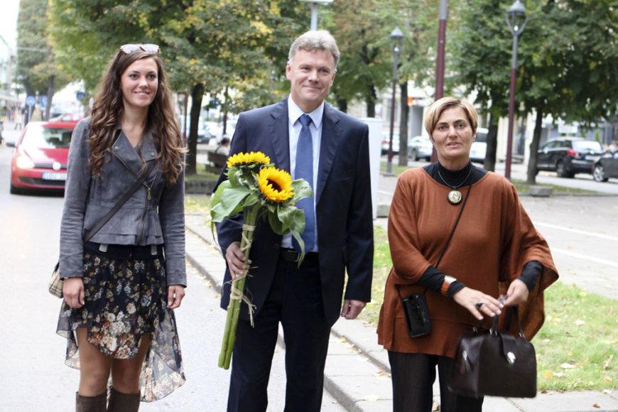 Rimantas Mikaitis su žmona Giedre ir dukra Rasa