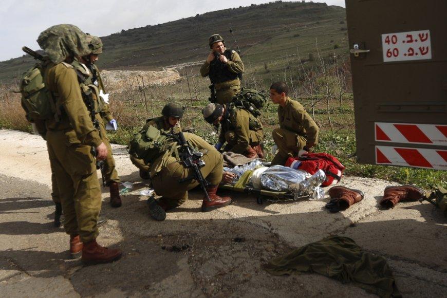 Per sprogimą Golano aukštumose sužeisti keturi Izraelio kariai