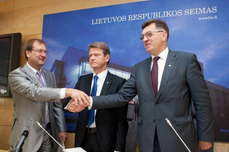 Viktoras Uspaskichas, Algirdas Butkevičius ir Rolandas Paksas