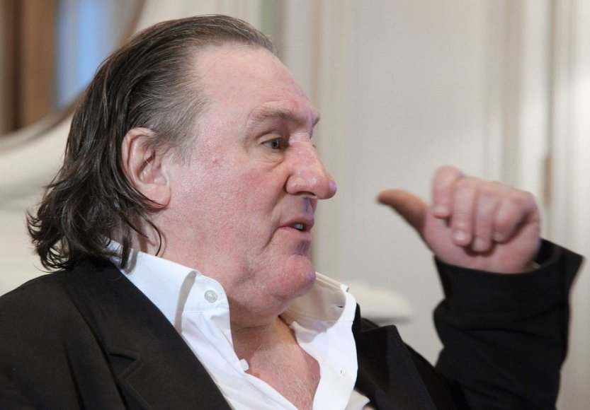 Gerard'as Depardieu Sočyje