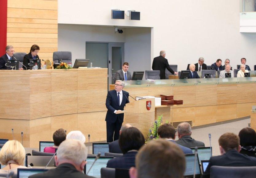 Lietuvos narystės ES dešimtmečio minėjimas Seime, svečias - buvęs EP pirmininkas Patas Coxas