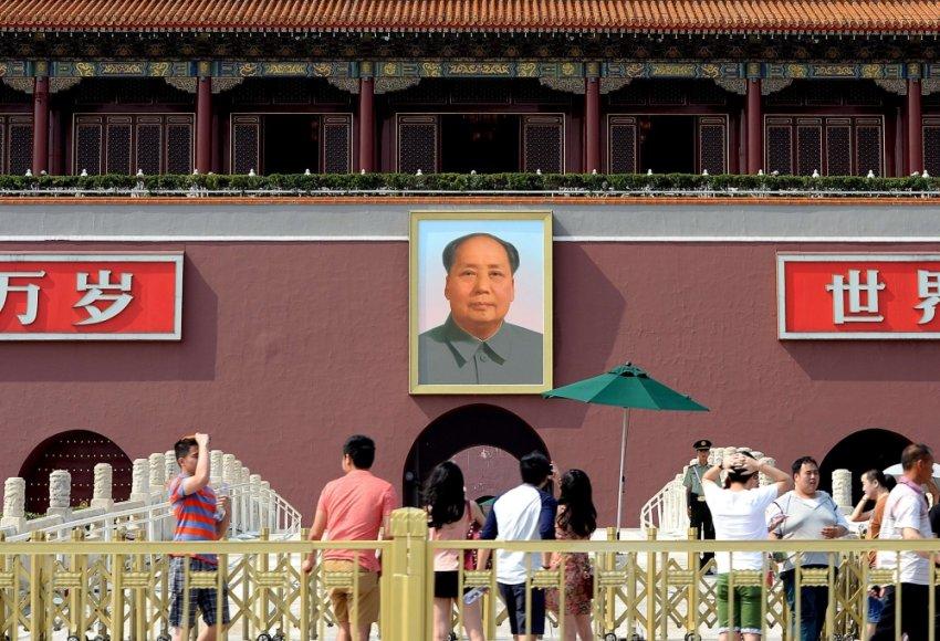 Mao Zedongo portretas Tiananmenio aikštėje Pekine