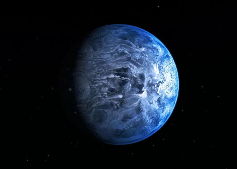 Mėlynosios dujinės planetos atmosferos temperatūra siekia 1 tūkst. laipsnių pagal Celsijų