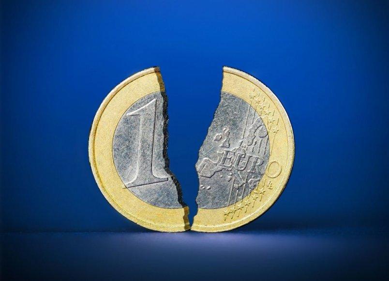 Suskilusi euro moneta