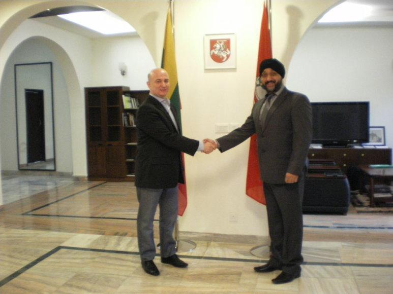IBCC Prezidentas Gediminas Citukas ir IBCC Vice Prezidentas Jitendra Sodhi