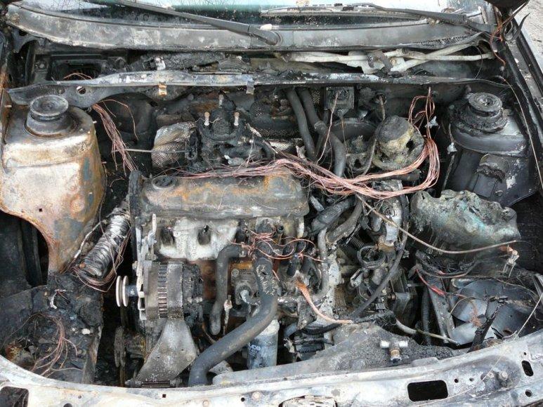 Automobilis po gaisro