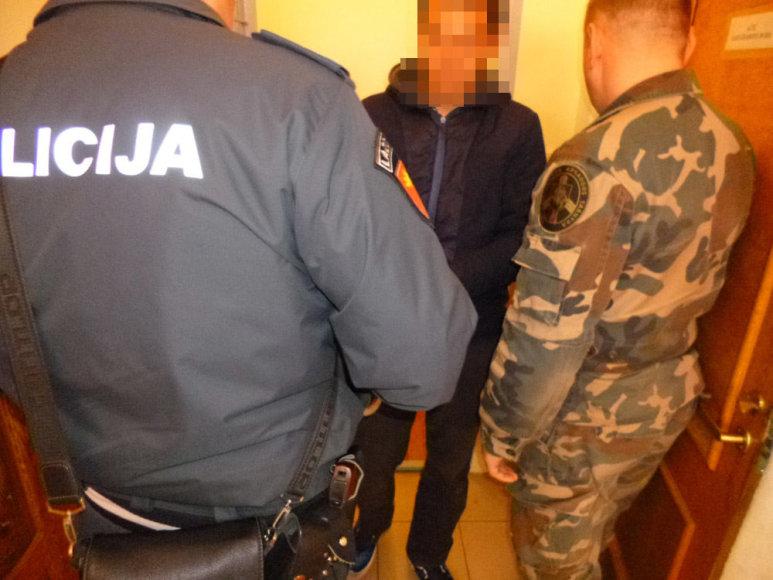 Pasieniečiai sulaikė policijos ieškomą druskininkietį