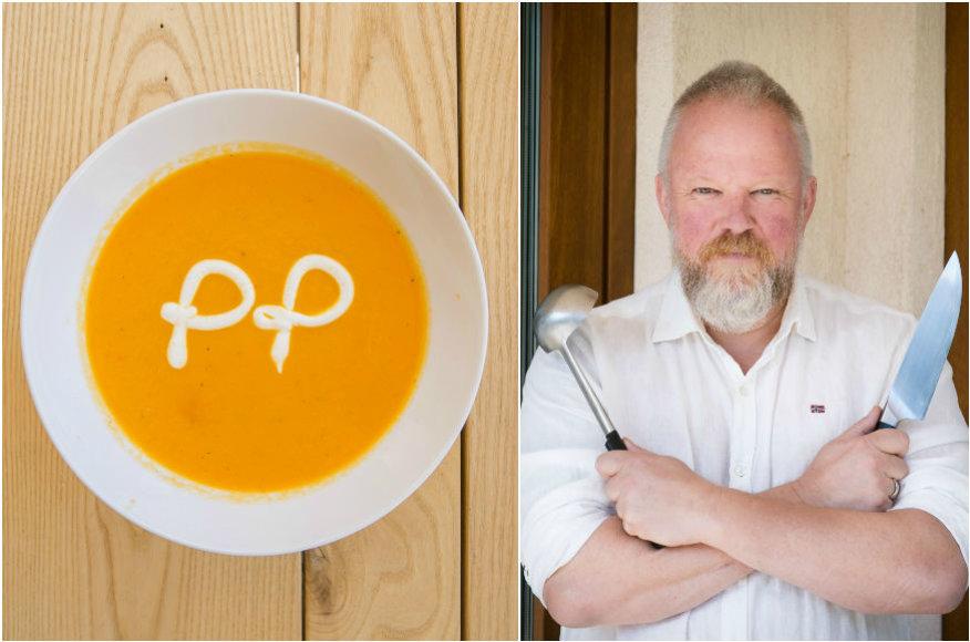 Vytaras Radzevičius ir jo ruošta morkų ir imbierų sriuba
