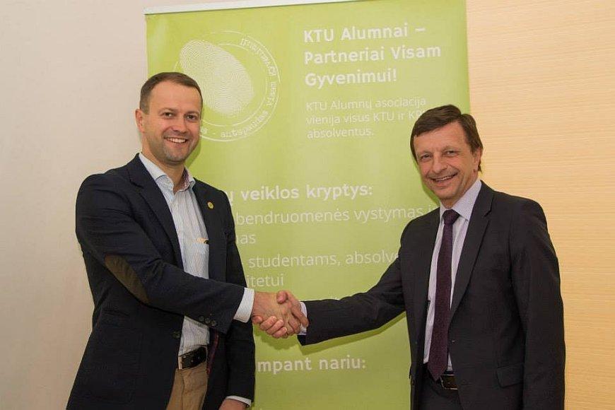 Dalius Misiunas ir Petras Barsauskas_KTU Alumni klubas