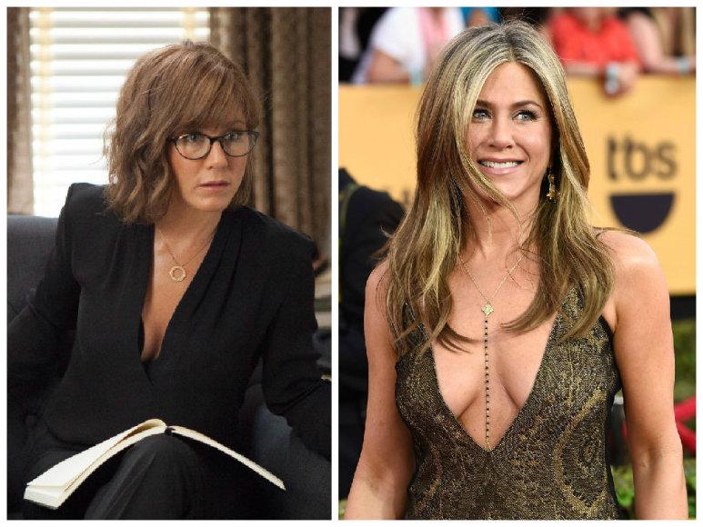 """Dėl psichologės vaidmens komedijoje """"Kaip tapti žvaigžde Brodvėjuje"""" Jennifer Aniston teko stipriai pakeisti išvaizdą"""