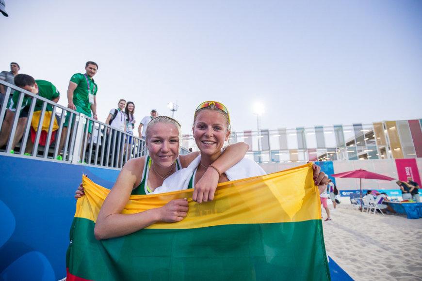 Ieva Dumbauskaitė ir Monika Povilaitytės pergalė Europos žaidynių aštunfinalyje