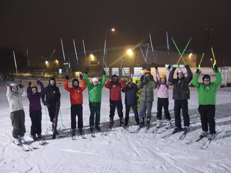 Lietuvos sporto žurnalistai išbandė kalnų slidininkų duoną
