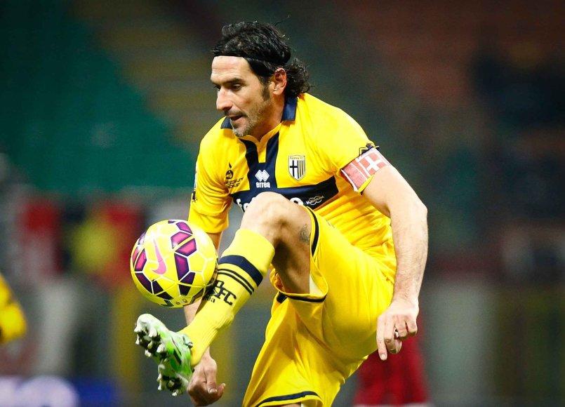 """""""Parma"""" žaidėjas Alessandro Lucarelli"""