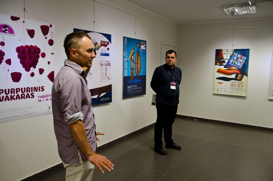 """Anykščių menų inkubatoriuje menininkas Marius Žalneravičius pristatė plakatų parodą """"Nr.2 Magenta"""""""