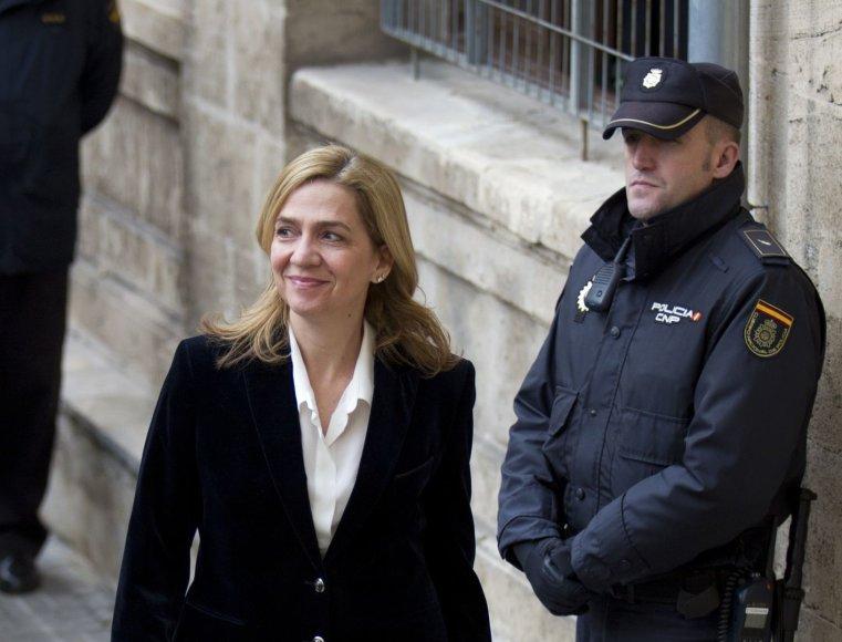 Princesė Cristina atvyko į teismą