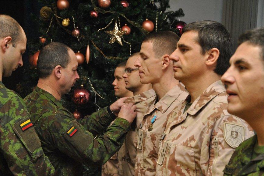 Sutikti iš Afganistano grįžę Lietuvos kariai