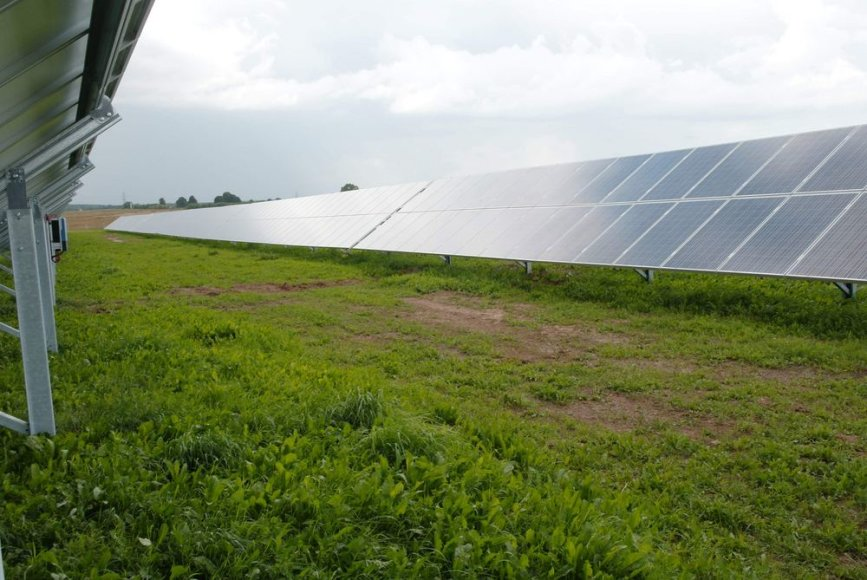 saulės baterijų elektrinė