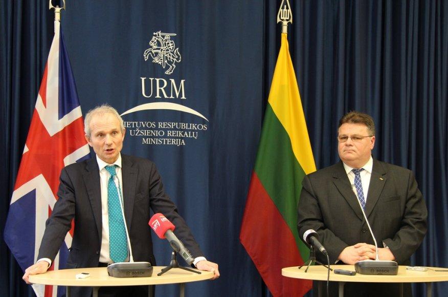Užsienio reikalų ministras Linas Linkevičius antradienį Vilniuje susitiko su Jungtinės Karalystės Europos reikalų ministru Davidu Lidingtonu